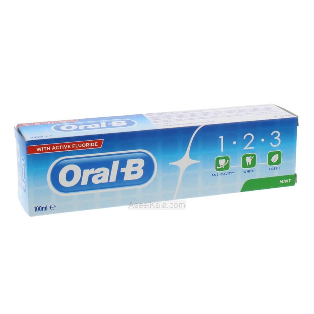 خمیر دندان اورال بی Oral-B مدل 1.2.3 وزن 100 میل