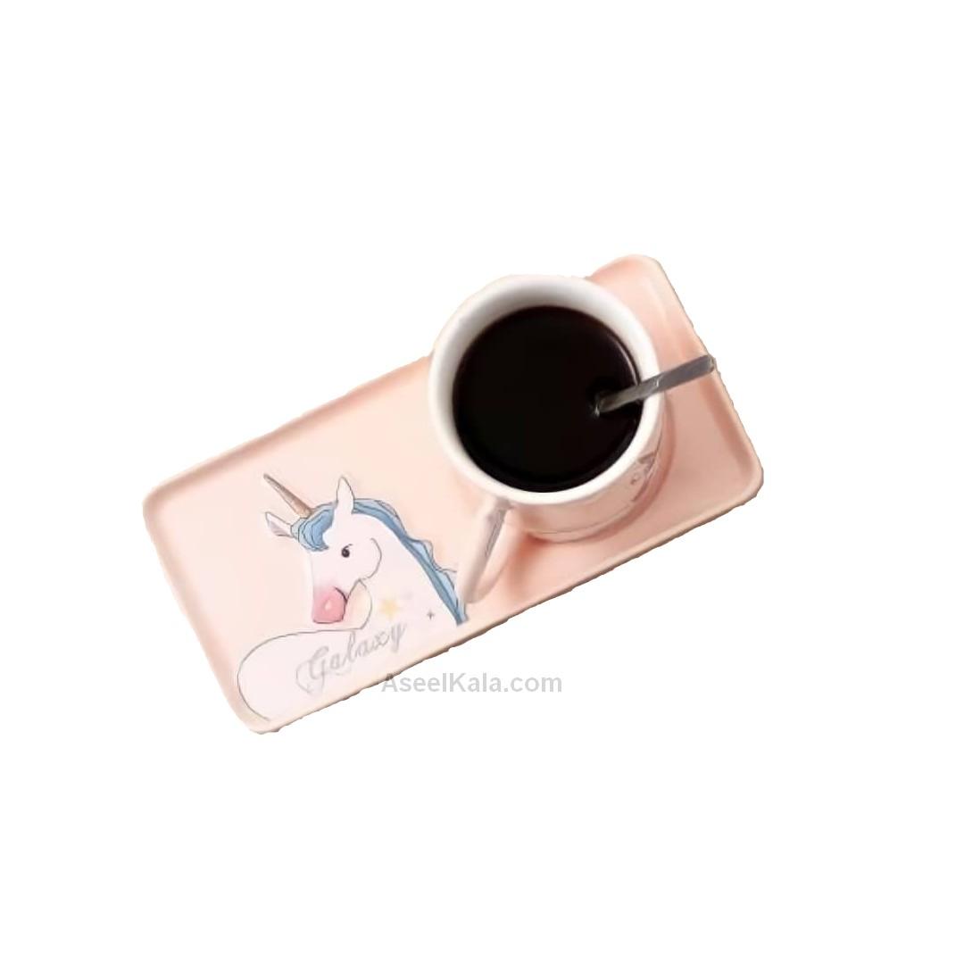 مشخصات ، قیمت و خرید فنجان و سینی سرامیکی مدل Unicorn