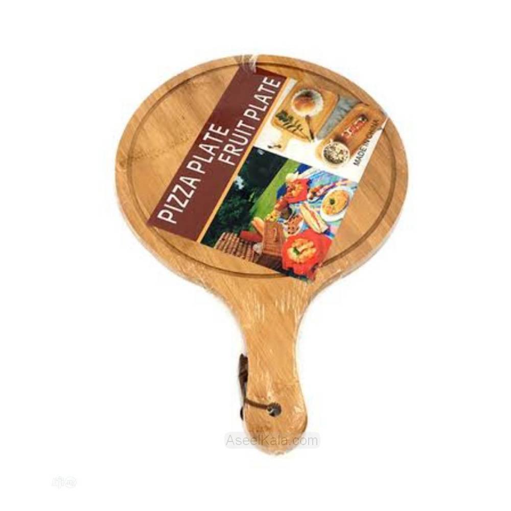 مشخصات ، قیمت و خرید تخته سرو پیتزا چوبی گرد قطر 24 سانت
