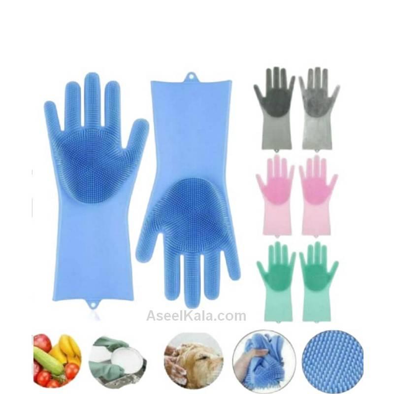 مشخصات ، قیمت و خرید دستکش اسکاچ دار سیلیکونی