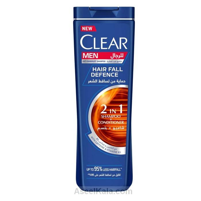مشخصات ، قیمت و خرید شامپو کلیر Clear ضد شوره مردانه مدل Hair Fall Defense وزن 400 میل