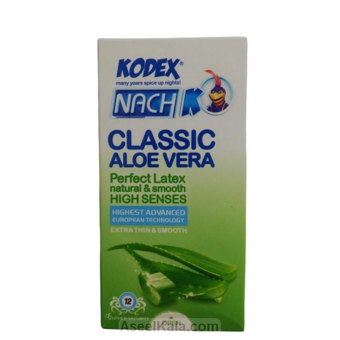 مشخصات ، قیمت و خرید کاندوم کدکس ناچ kodex مدل Classic Aloe Vera بسته 12 عددی